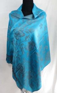 double-sided peony flowers vintage inspired pashmina scarves shawl wrap stole
