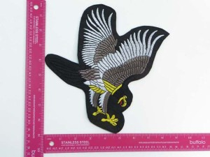 large size hunting eagle motorcycles biker chopper punk rock vest leather jacket denim patch