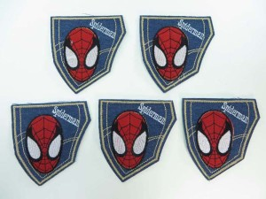 spiderman embroidered iron on patch / embroidered cloth badge motif applique / sew on applique patch