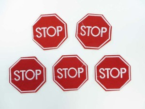 stop sign embroidered iron on patch / embroidered cloth badge motif applique / sew on applique patch