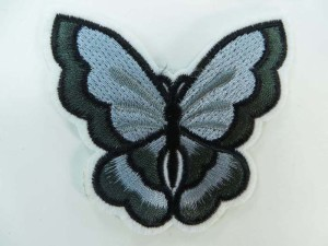 butterfly embroidered iron on patch / embroidered cloth badge motif applique / sew on applique patch