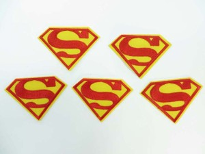 superman embroidered iron on patch / embroidered cloth badge motif applique / sew on applique patch