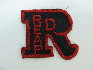 black red REAP embroidered iron on patch / embroidered cloth badge motif applique / sew on applique patch