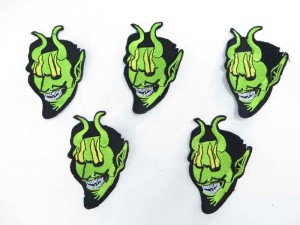 green face guy embroidered iron on patch / embroidered cloth badge motif applique / sew on applique patch