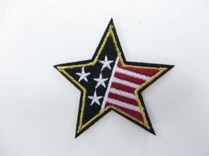 Patriotic star American Flag Stars and Stripe motorcycles biker chopper punk rock embroidered iron on patch