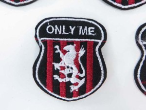 Only Me lion embroidered iron on patch / embroidered cloth badge motif applique / sew on applique patch