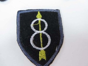 arrow through two circles shield embroidered iron on patch / embroidered cloth badge motif applique / sew on applique patch
