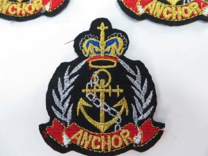 military inspired nautical anchor ship marine embroidered iron on patch / embroidered cloth badge motif applique / sew on applique patch
