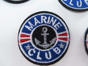 marine club nautical anchor ship marine embroidered iron on patch / embroidered cloth badge motif applique / sew on applique patch