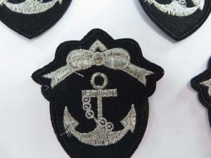 nautical anchor ship marine embroidered iron on patch / embroidered cloth badge motif applique / sew on applique patch