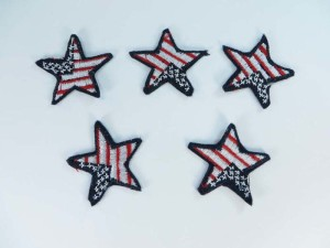 Patriotic star American Flag Stars embroidered iron on patch / embroidered cloth badge motif applique / sew on applique patch