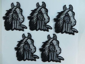 horse head embroidered iron on patch / embroidered cloth badge motif applique / sew on applique patch