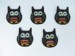 owl embroidered iron on patch / embroidered cloth badge motif applique / sew on applique patch