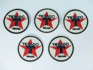 Texaco Oil Gasoline Filling Station Star car racing embroidered iron on patch / embroidered cloth badge motif applique / sew on applique patch