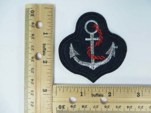 anchor embroidered iron on patch / embroidered cloth badge motif applique / sew on applique patch