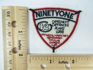 """NinetyOne"" embroidered iron on patch / embroidered cloth badge motif applique / sew on applique patch"
