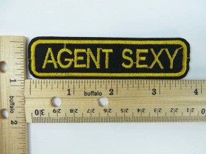 agent sexy embroidered iron on patch / embroidered cloth badge motif applique / sew on applique patch