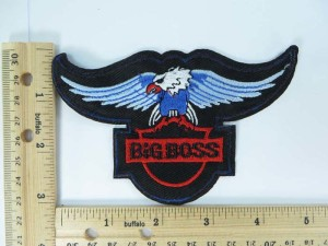big boss eagle embroidered iron on patch / embroidered cloth badge motif applique / sew on applique patch