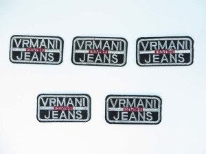 vrmani embroidered iron on patch / embroidered cloth badge motif applique / sew on applique patch