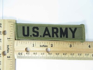 U.S. ARMY embroidered iron on patch / embroidered cloth badge motif applique / sew on applique patch