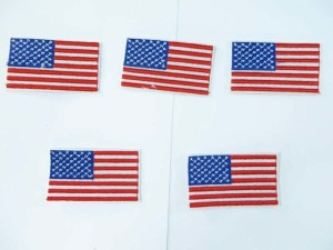 American flag USA patriotic embroidered iron on patch / embroidered cloth badge motif applique / sew on applique patch