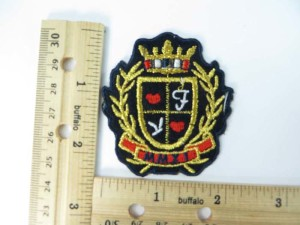MMXI (2011 in Roman Numerals) embroidered iron on patch / embroidered cloth badge motif applique / sew on applique patch