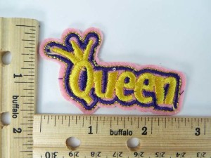 cute Queen embroidered iron on patch / embroidered cloth badge motif applique / sew on applique patch