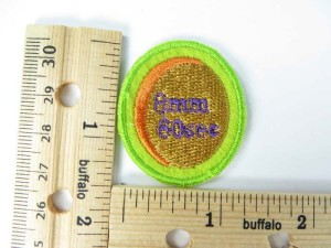 8mm 60 second embroidered iron on patch / embroidered cloth badge motif applique / sew on applique patch