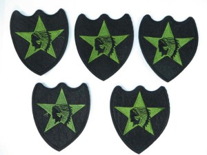 native american with headdress green star embroidered iron on patch / embroidered cloth badge motif applique / sew on applique patch