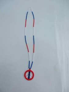 rubber peace sign necklace