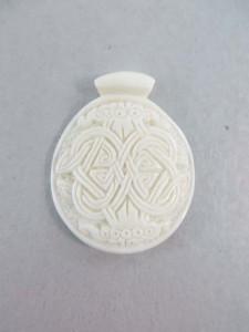celtic cross buffalo bone handcarved pendant