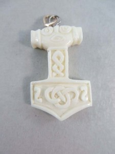 Celtic buffalo bone handcarved pendant