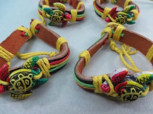 turtle rasta imitation leather bracelets wristband