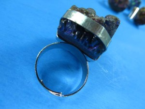 genuine gemstone chunky fashion ring