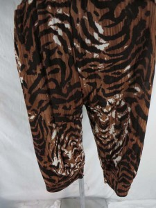 large pattern animal print romper with side pocket and adjustable spaghetti shoulder strap
