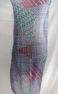 wavy geomatric design maxi long fashion scarves sarong wrap