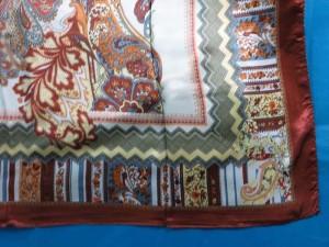 retro bohemian paisley satin square scarves shawl wrap stole
