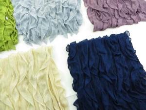 ruffle fashion scarf