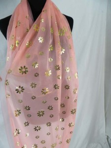 double layer daisy floral scarves shawl wrap stole