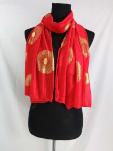 gold mandala circle print fashion scarves shawl wrap stole
