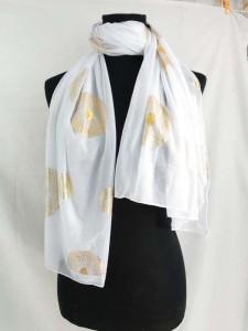 gold mandala circle print fashion scarves shawl wrap stole
