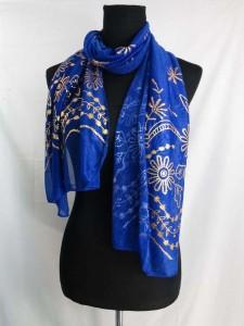 gold flower leaf print fashion scarves shawl wrap stole