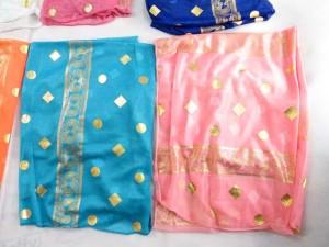 gold geomatric print fashion scarves shawl wrap stole
