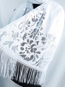 elegant lace fashion scarves shawl wrap stole with tassels