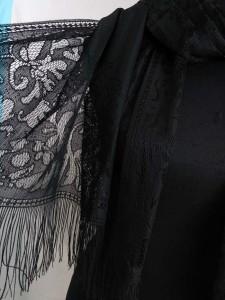 elegant lace fashion scarves shawl wrap stole with tassels