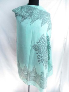 boho vintage style flower print long scarf shawl reversible fall and winter wrap stole