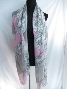 Rose design maxi long fashion scarves sarong wrap