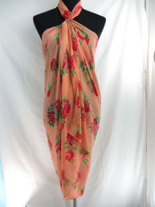 rose maxi long fashion scarves sarong wrap