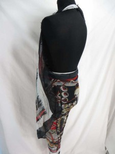 boho vintage abstrack print fashion scarves