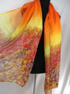 abstract flowers maxi long fashion scarves sarong wrap